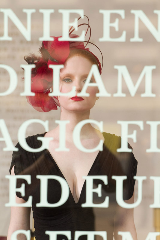 Metropolitan Opera House at Lincoln Center Feb 23, 2011 Sandy Ramirez / Totally Cool ® Cover shot FW 2011 Diva Collection of hats Look Book. Hat - Ellen Christine. Hair and Makeup - Paul Innis.  2/14/2011.