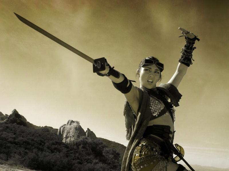 Malibu, CA Feb 24, 2011 Cyber Scan Films Sword Warrior shoot