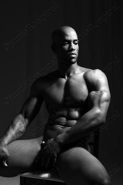 Male model photo shoot of gimikero in junie's studio