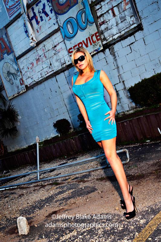 Pensacola Mar 03, 2011 ©Jeffrey Blake Adams My Blue Dress, it was sunset