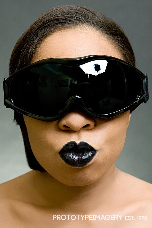 Female model photo shoot of KaliDaSkope Beauty by Bas Clark, makeup by KaliDaSkope Beauty