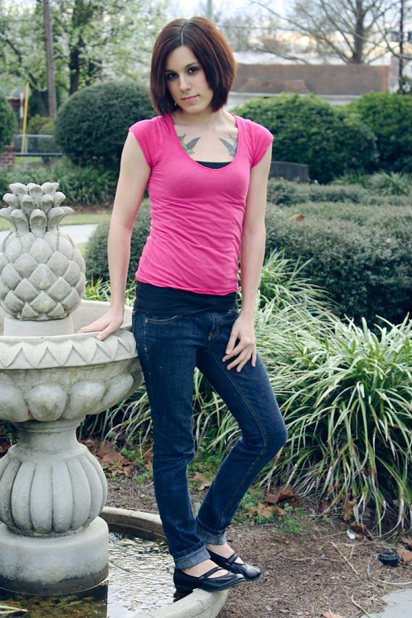 Female model photo shoot of x Lauren
