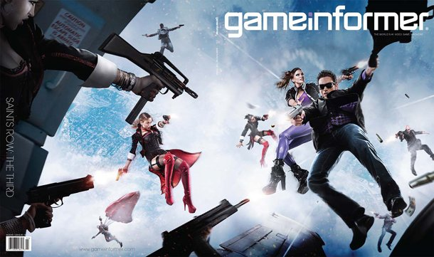 Hollywood Mar 11, 2011 Saint Row 3, Gameinformer Cover