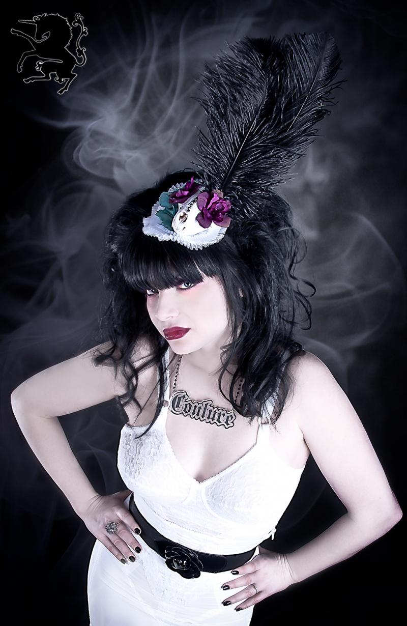 Mar 21, 2011 Death is Divine Hat & COUTURE Necklace.  Model: Katayna Star, Hair: Neddie Scissorhands, Photo: Dark Unicorn PHotography