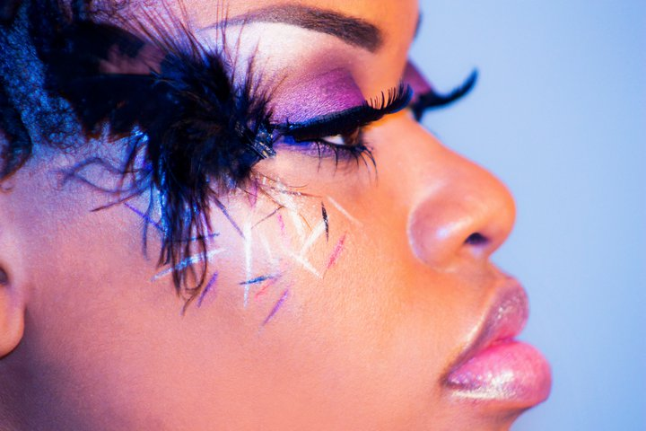 Female model photo shoot of Makeup by April Wilson by Eturnal Image