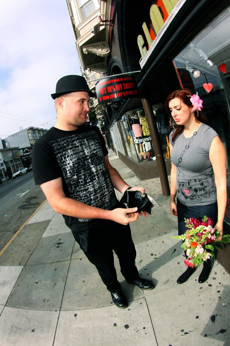 Male and Female model photo shoot of Jeffrey Ryan Marvel and Ms KM in Haight Street
