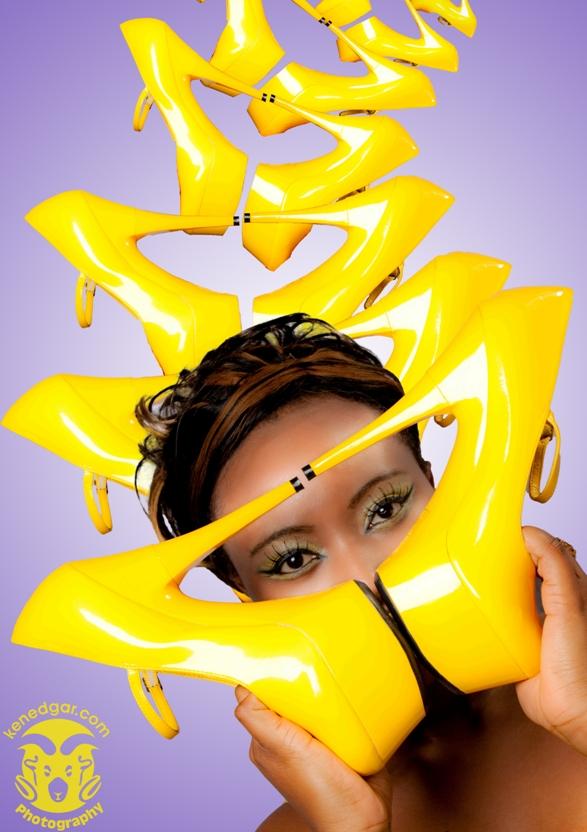Yorkshire, UK Mar 27, 2011 www.kenedgar.com Eye heel shoes - Photography/Editing: Ken Edgar