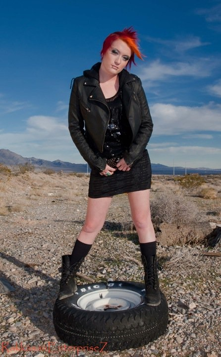 Female model photo shoot of Kelli Brame in Mt. Charelston, Las Vegas, Nv