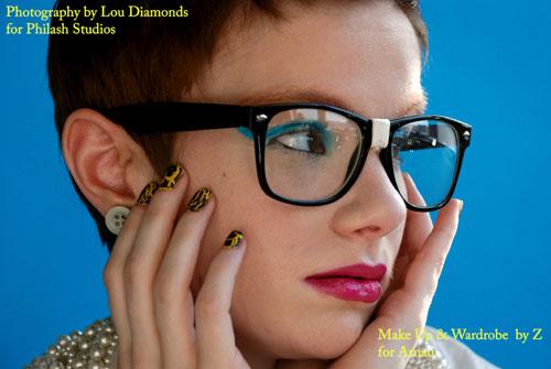 Male and Female model photo shoot of Louis Diamonds and Sarah Marie Hawkins in Philash Studios