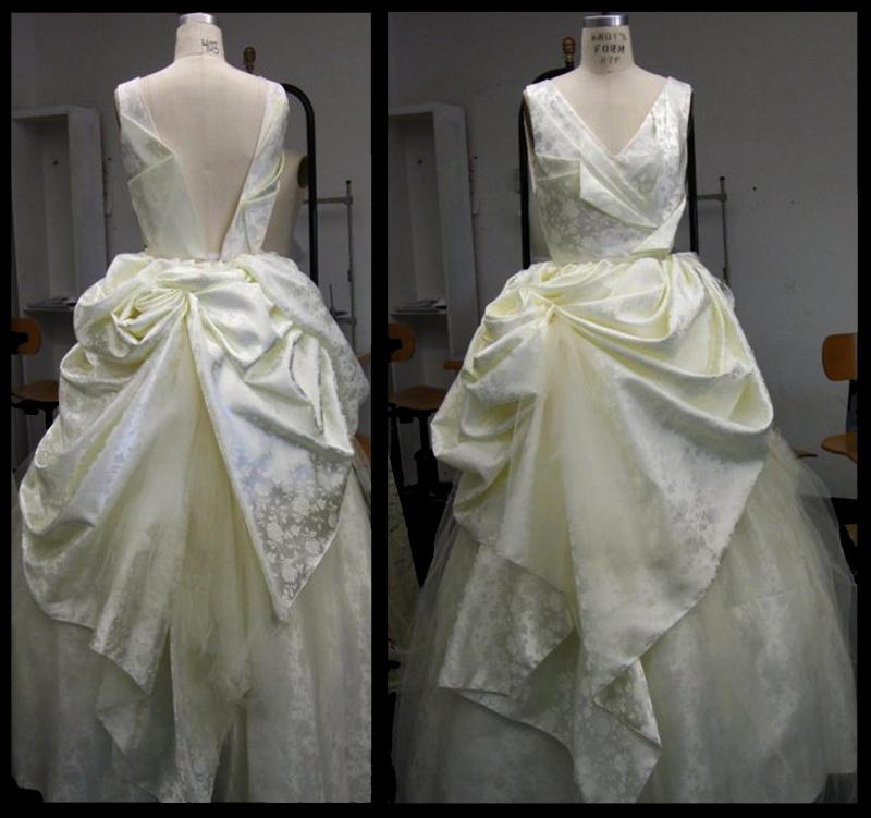 MassArt Apr 06, 2011 Janfrevic (A) avant garde wedding dress