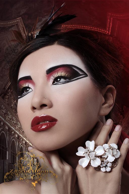 Female model photo shoot of Myth Photography and Mandy Watson in Zarrin Henna Studio