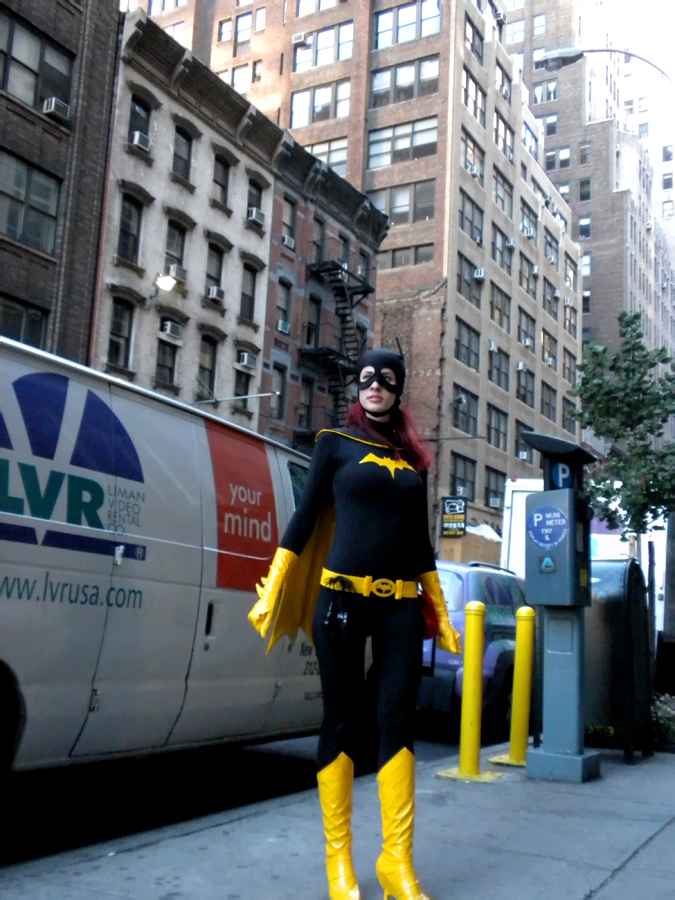 NYC Apr 09, 2011 Batgirl! Costume made by me :)!