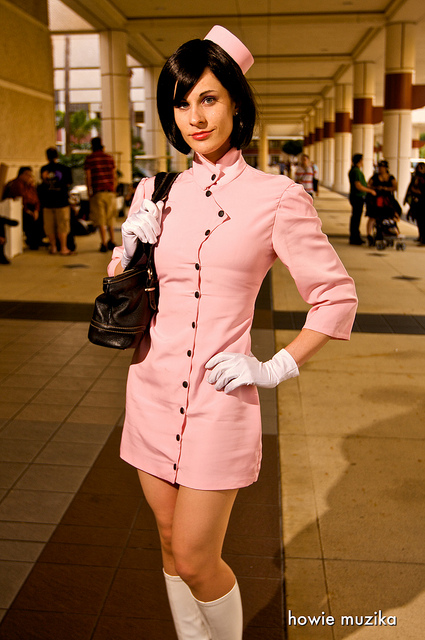 Orlando FL; Megacon Apr 09, 2011 Howie Muzika Dr. Girlfriend from The Venture Brothers (costume made and worn by me!)
