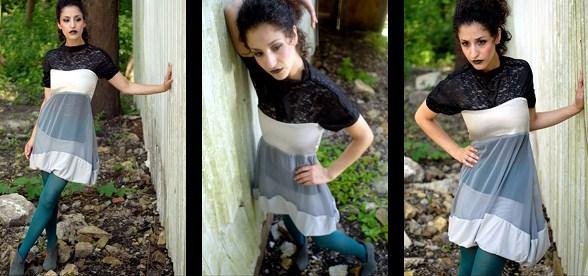 Female model photo shoot of SARA P by jason girard - chicago, clothing designed by Rosina-Mae