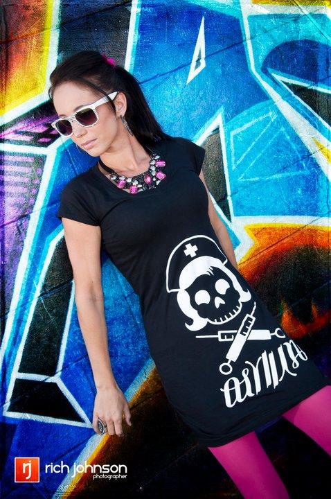 Female model photo shoot of AsylumFashionHouse by Rich Johnson in Down Town Orlando