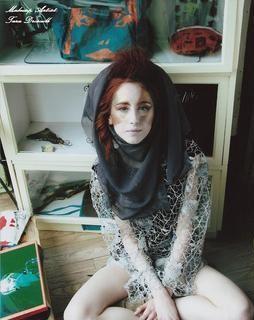 Female model photo shoot of artist Tara Driscoll