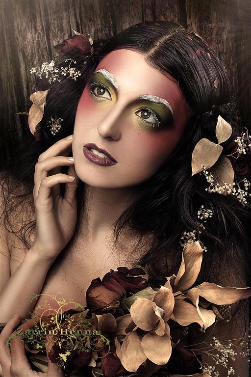 Female model photo shoot of Myth Photography and Sofia Serrano in Zarrin Henna Studio