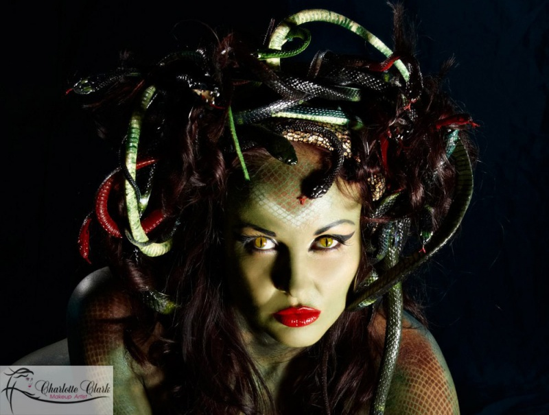 Canberra, ACT Apr 20, 2011 Charlotte Clark Makeup & Stanb Studio Vogue Photography Body Paint, Special Effects - Medusa