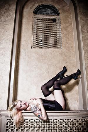 Female model photo shoot of Morbid Candi in The Leland Hotel-Detroit, Mi