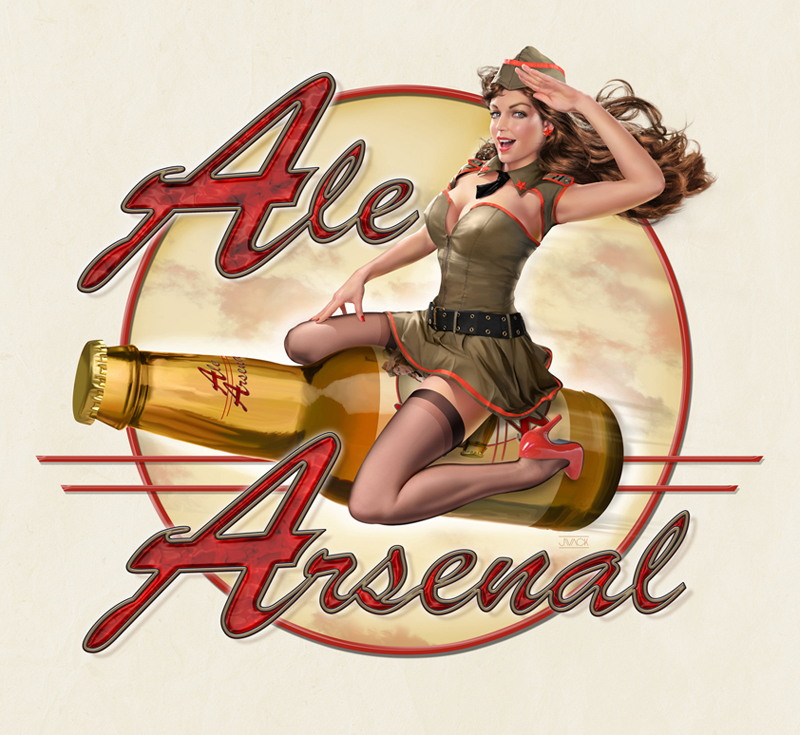 Los Angeles, Ca. Apr 20, 2011 Jeff Wack/ Ale Arsenal Ale Arsenal / micro-brewery Logo