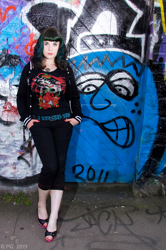 Female model photo shoot of Ms Blue Ruin by griffpics in Mill Lane in Dublin city centre