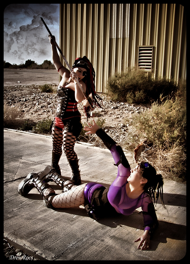Male and Female model photo shoot of DrewRocs, Nicholette Cady and Stormie Psy in Salton Sea, Ca
