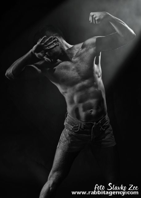 Male model photo shoot of Slavko Zec in Rabbit studio
