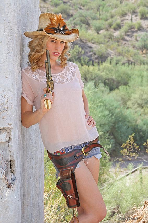 Cowtown in Arizona desert Apr 27, 2011 Jerry Nemeth Cowgirl