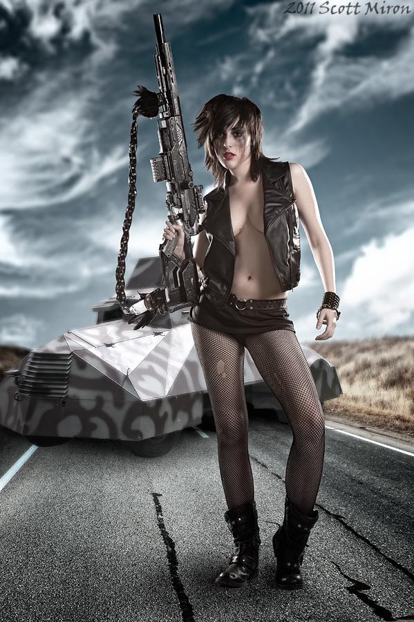 Post Apocalyptic Highway Apr 28, 2011 2011 Scott Miron Roadblock!