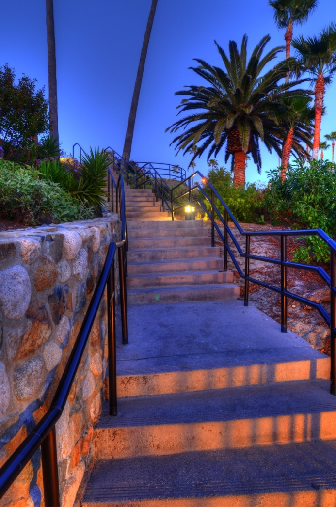 Laguna Beach, California, USA Apr 29, 2011 HD Photo Tours Stairs at Sunset