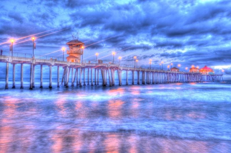 Huntington Beach, California, USA Apr 29, 2011 HD Photo Tours Huntington Beach Pier