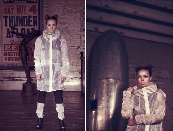 Female model photo shoot of Marina Brenere by Miss Aniela in MC Motors, makeup by Hellie Last