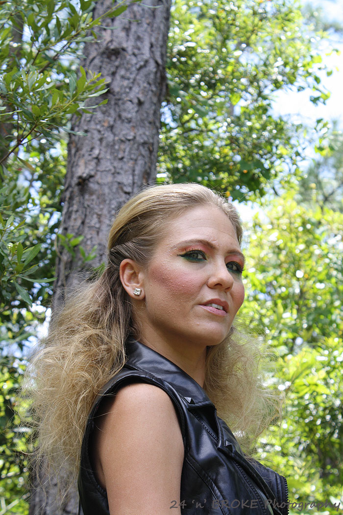 Female model photo shoot of Beauty By Lola Nicole by 24 N BROKE Photography, hair styled by Kryssie Blanks