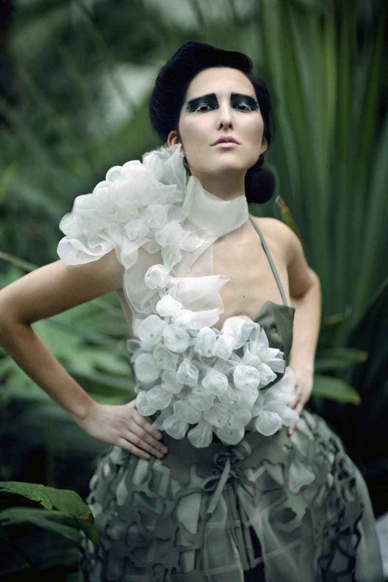 May 01, 2011 Designer: Clarissa Barrera Model: StacyGill. Hair:Diana Chavez Mua: Ursula Photographer: Kirsten Miccoli