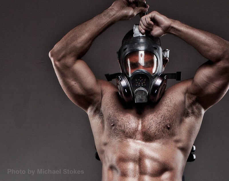 Los Angeles May 04, 2011 Michael Stokes Gas Mask