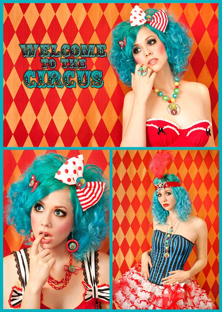 "May 06, 2011 Irene Yuen Locketships ""Welcome to the Circus"" Lookbook || Model: Zilla308 || Photographer/MUA/Hair: Irene Yuen || Wardrobe: Locketship"
