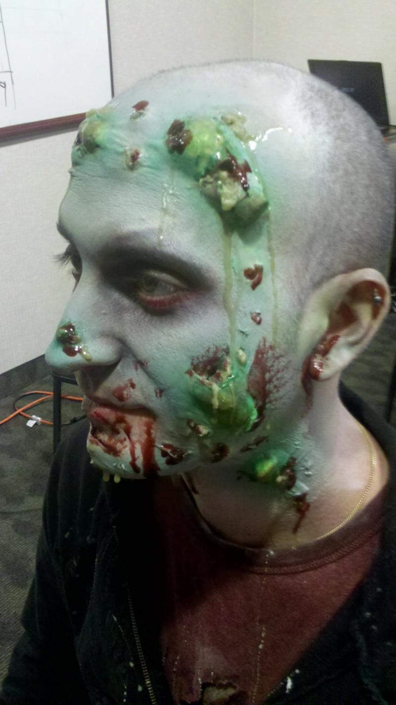 Female model photo shoot of Jill FX in Fairfield nj demon hunters set