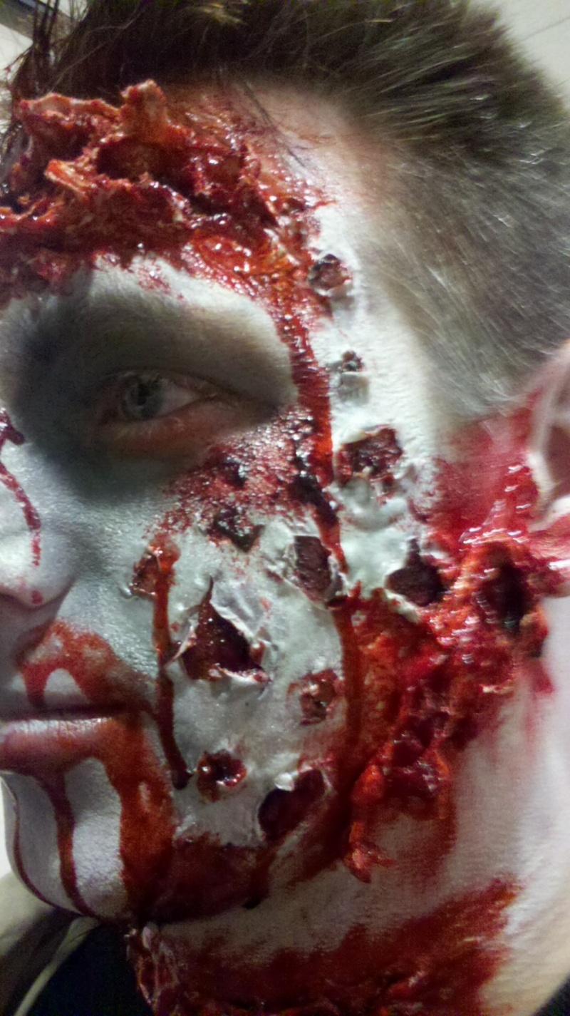 Female model photo shoot of Jill FX in Fairfield nj demon hunters movie set
