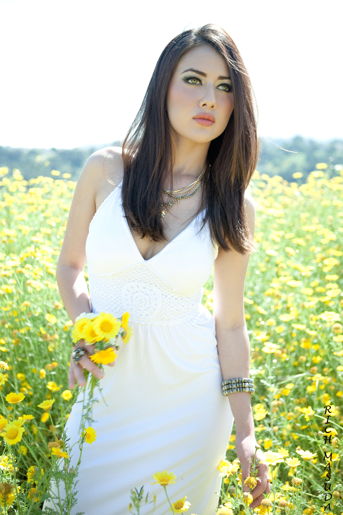 Flower Field May 09, 2011 Photo by Rich Masuda Makeup by me