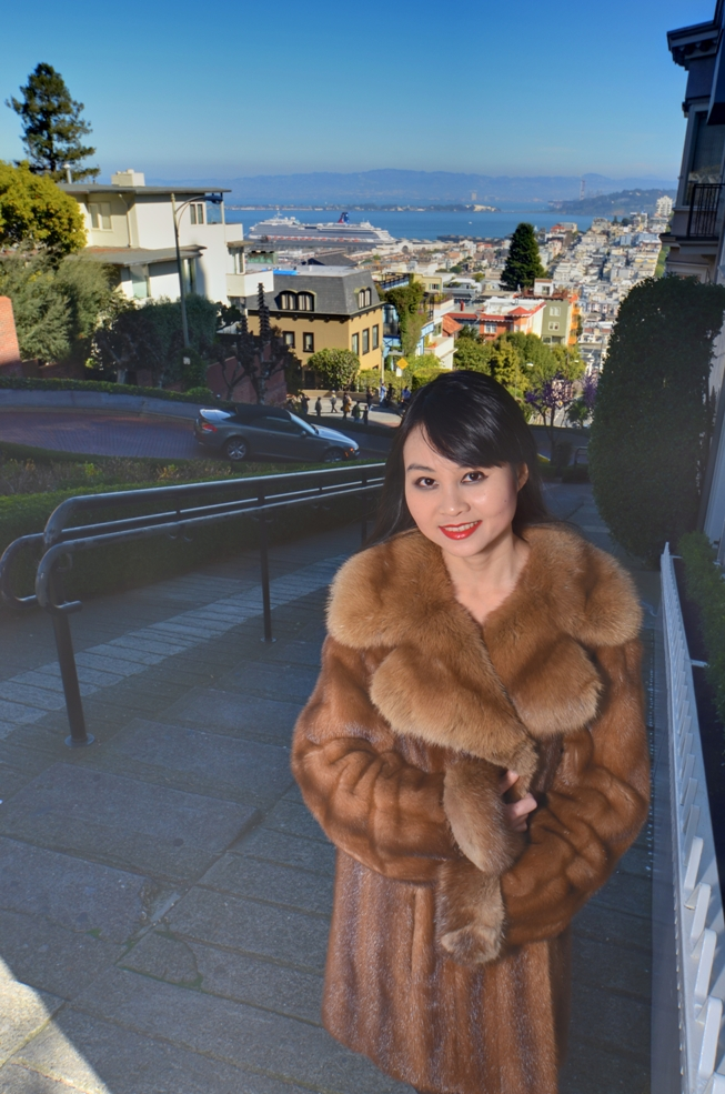 San Francisco, California, USA May 10, 2011 HD Photo Tours Angel at Lombard St