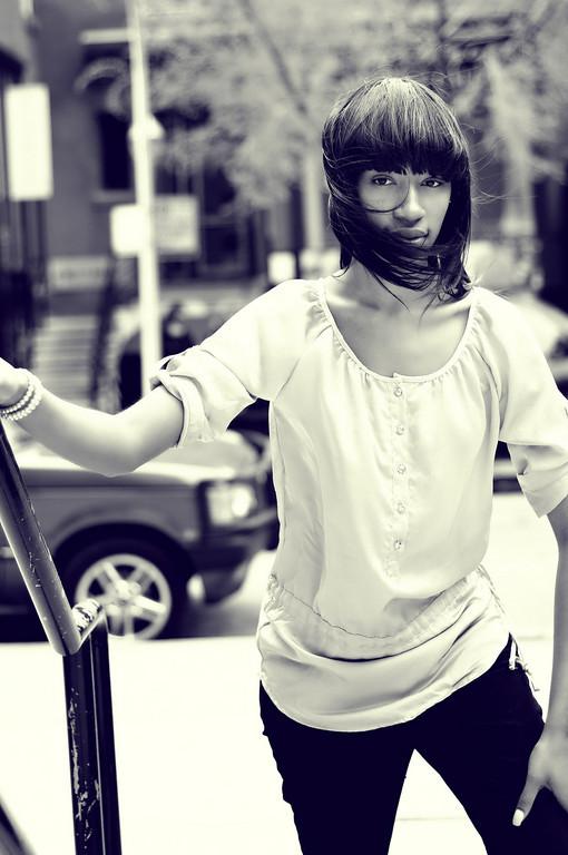 Female model photo shoot of Fajr Bruce by ArkadiuszK in Downtown