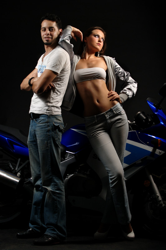 BSP May 10, 2011 (c) Ken Yee aka S.K.I.T.A. Studios Bike Babe or Boy Toy? (their skin tones are different...its not the lighting)