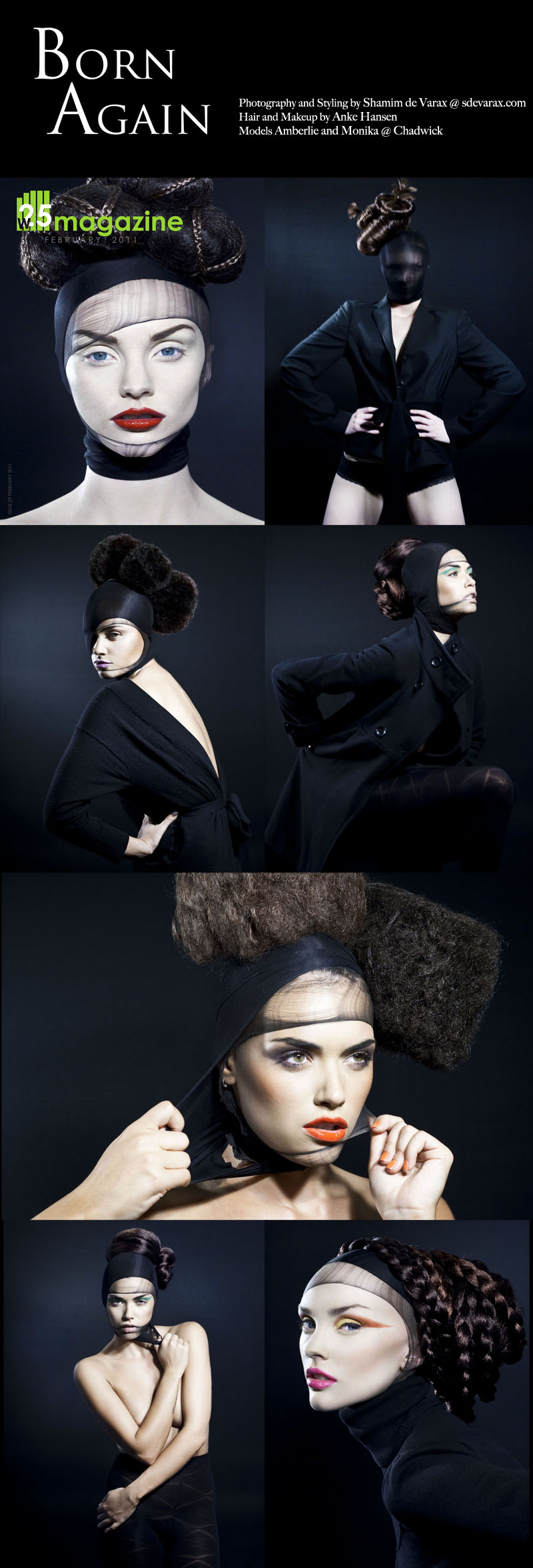Melbourne May 11, 2011 S de Varax Hair and Makeup Anke Hansen/Styling S de Varax/Models Amberlie and Monika @ Chadwick