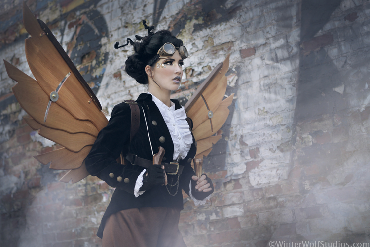 May 13, 2011 WinterWolf Studios Jacket, pants and goggles by Karen von Oppen for KvO Design, Wings by Steampunk22