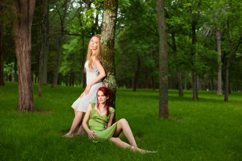 Female model photo shoot of Kristin Sweeting  and Lauren Linton, makeup by Sheer Glamour Makeup