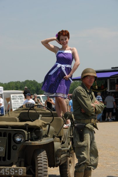 Reading Airshow, Reading PA May 16, 2011 I dont just play pinup, I live it!