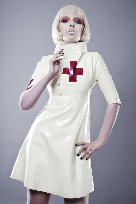 May 20, 2011 Julian Kilsby (model Sohui) Nurse dress http://www.kaorislatexdreams.com/shop/japanese-imperial-nurse/