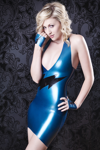 May 20, 2011 Julian Kilsby (model Paige) Dress http://www.kaorislatexdreams.com/shop/lightening-halterdress/