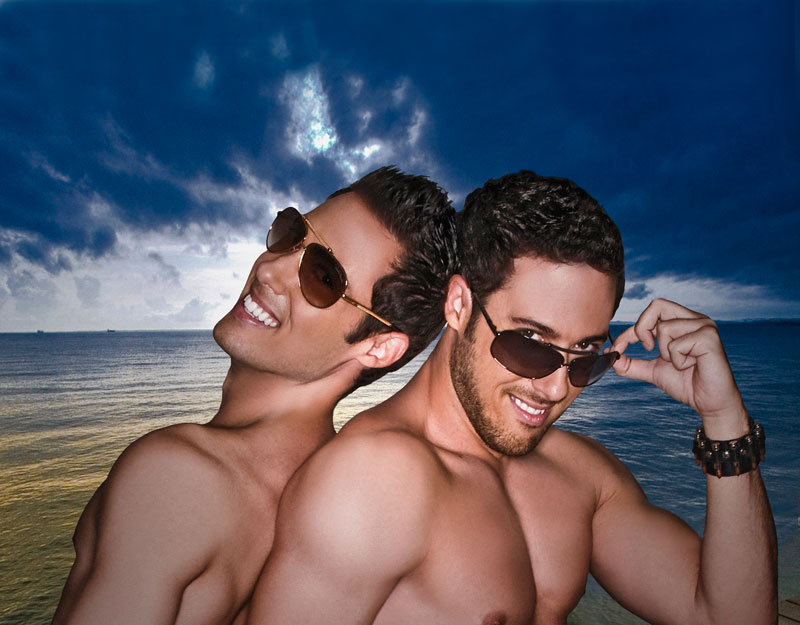 Male model photo shoot of P Twins in Los Angeles, CA