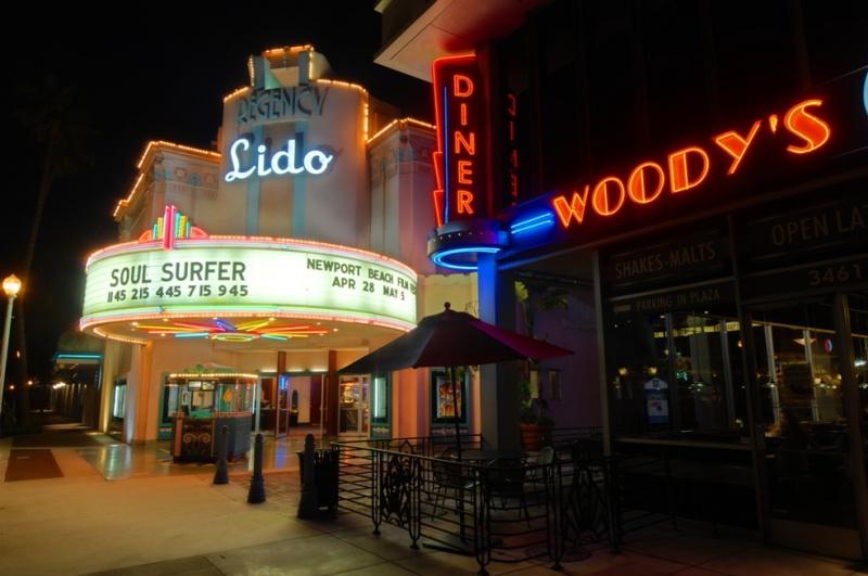 Balboa Peninsula, Newport Beach, California USA May 27, 2011 HD Photo Tours Lido Theater & Woodys
